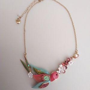 Betsey Johnson New Bird Necklace
